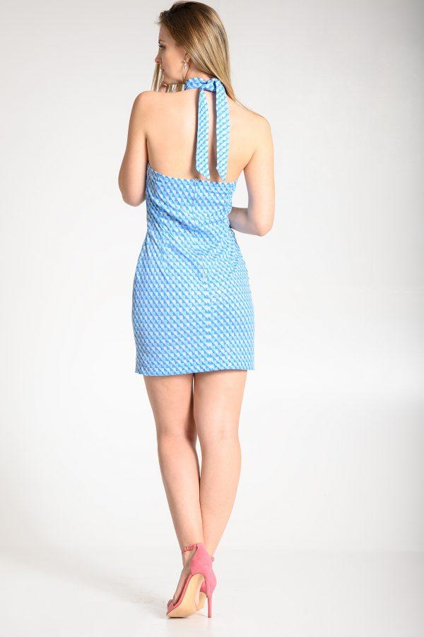 Vestido Halter Azul
